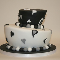 Black And White Topsy Turvy 2 Tier