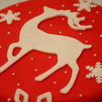 Reindeer And Snowflake Cake