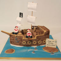 A Chocolate Pirate Ship Id Seen So Many So Thought I Needed To Add My Own Ideas It Took Longer Than I Imagined Though A chocolate pirate ship. I'd seen so many so thought I needed to add my own ideas! it took longer than I imagined though!