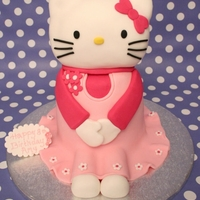 Hello Kitty Cake A 3D hello kitty I saw on a tutorial on line so thought I would give it a go for my other half's niece's birthday. All vanilla...