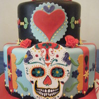 Mexican Day Of The Dead Cake Mexican Day of the Dead cake