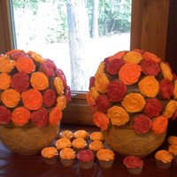 Cupcake Bouquets For Fall Wedding   Cupcake Bouquets for Fall Wedding