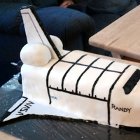 Space Shuttle Cake For the Nasa fan. This was one of my first carved cakes. I just realized I never uploaded it. I put the candles in the back end. It looked...