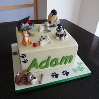 A Fond Farewell A surprise cake for our lovely vet who is leaving the practice to return to his home in Ireland
