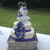 Heart Shaped Wedding Cake With Butterfly Accents mmf covered, sugar free cake and cream cheese frostingmmf butterflies