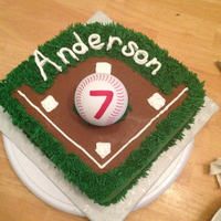 Baseball Diamond Cakes buttercream frosting, & accentsfoam baseball