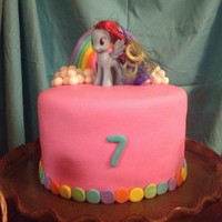 My Little Pony, Rainbow Cake MMF covered, buttercream in the middle