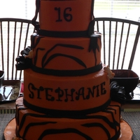 Icing Smiles Cake Tiger Themed Picture turned out dark and all photos have people in them. This was my first call to action from icing smiles. It was a sweet 16, she...