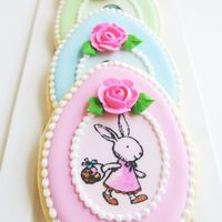 Pretty Pastel Easter Cookies I made these stamped and hand painted royal icing Easter sugar cookies for my daughter to share with her class. I also created a tutorial...