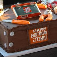 Home Depot Tools Cake!! I made this for my husbands' 30th. He loves Home Depot so I decided to make a cake honoring His love of tools. This was my first time...