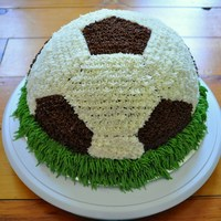 Soccer Ball   Chocolate cake with chocolate buttercream