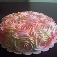 Rose Cake First time I saw this, I knew I needed to try it. Loved the outcome.