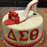 Delta Sigma Theta - High Heel This cake was a for a going away party. The lady was a Delta Sigma Theta alumni who is also a HUGE shoe lover. The sorority colors are...