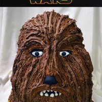 "Chewbacca From Star Wars Chewbacca was down with 2 - 10"" rounds, 2 - 8"" rounds and 1 - 6"" rounds. I then used cake pieces to mold his facial features..."
