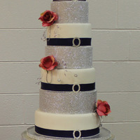 This Is A Bling Cake That I Did For A Wedding   This is a BLING cake that I did for a wedding
