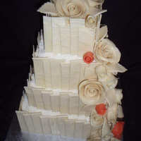 White Chocolate Wedding Cake All white choc and modelling choc, loved making this :)