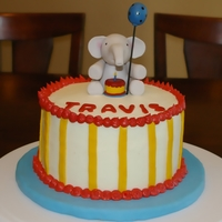 "1 Yr Old Elephant Smash Cake 6"" smash cake made to match invitation."
