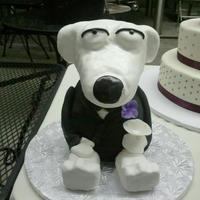 Brian Cake This was a grooms cake for a guy who loves family guy,