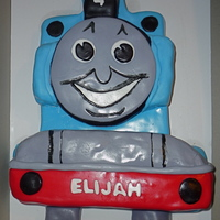 Thomas The Tank Cake fondant covered cake