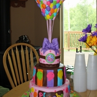 "Balloon Cake I got inspiration for this cake from CakesbyDusty's Jazilyn cake as well as the multitude of ""Up"" cakes on here. The..."