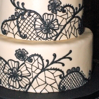 Black Lace Wedding Cake This cake was, of course, inspired by the Cake Girls black and white lace cake. This was my first attempt at such detailed piping. I was...