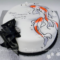 Handpainted Koi Fish Cake