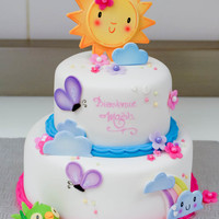 Shower Cake Inspired By The Babys Room Decor Shower cake inspired by the baby's room decor