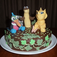 Land Before Time Cake i had fun making these dinosaurs from one of my favourite childhood movies the land before time.