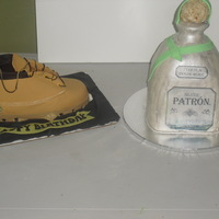 Timberland And Patron Cakes