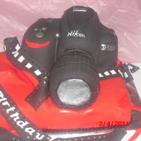Camera   Butter cake with French Vanilla Buttercreme filling covered in MMFondant, everything is edible