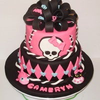 Monster High Monster High themed cake for a friend's daughter.