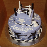 Purple Girly Mixed Martial Arts Themed This one had me stumped. How do I combine mixed martial arts (Muay Thai) and the colors black, purple, and white in a cake? This was the...
