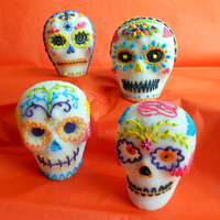 Mexican Traditional Hollow Sugar Skulls Decorated With Royal Icing Mexican traditional hollow sugar skulls decorated with royal icing.