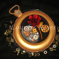 This Romantic Clock Version Combines Different Techniques The Base Is Made With Cake Covered With Fondant And Airbrushed In Golden Pearl D... This romantic clock version combines different techniques. The base is made with cake covered with fondant and airbrushed in golden pearl...