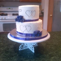 Simple Wedding Cake Bride wanted this for the wedding party and cupcakes for the guests.