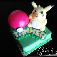 3D Pikachu And Pokeball Cake