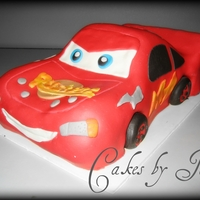 3D Lightning Mcqueen Cake My very First 3D Car Cake! :)