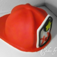 3D Fire Fighter Helmet Cake My First 3D Fire Figher Helmet Cake