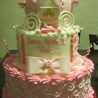Princess Carriage Tiered Cake This is a cake I made for my daughter's 8th birthday. She had an all pink princess party. The carriage is made of styro. The idea for...