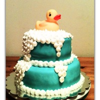 Rubber Duckie Cake Rubber Duckie cake for a baby shower