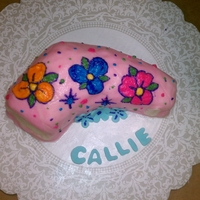 Arm Cast Cake Funfetti cake with buttercream and few fondant decorations. Mom wanted to celebrate the removal of her little girl's cast (19 months...