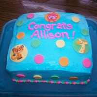 Zoo Animal Girl Baby Shower White cake with Rick's special buttercream. Made for mom-to-be who didn't want anything too girly or frilly. Animals cut out of...