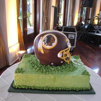 Washington Redskins Grooms Cake