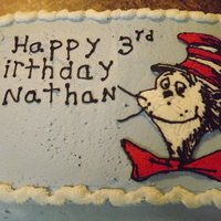 Chocolate Cake With Fimb Cat In The Hat Is Frozen Buttercream chocolate cake with fimb. cat in the hat is frozen buttercream