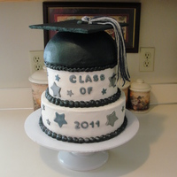 Graduation Cake vanilla marble with buttercream icinig