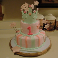 Crown Cake chocolate cake with buttercream incing/fondant crown and stars