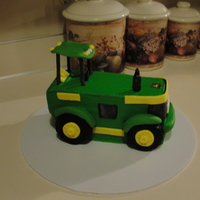 Tractor Smash Me Cake   vanilla mocha cake with buttercream cake and fondant accents