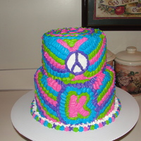Tye Dye Cake   tye dye white chocolate mocha cake inside/with buttercream icing like tye dye