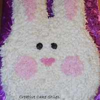 Bunny!   inspired by the coconut covered bunny cakes- this one was done with a grass tip
