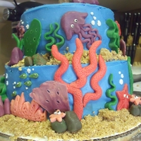 Under The Sea All buttercream frosting and modeling chocolate! Graham cracker sand!